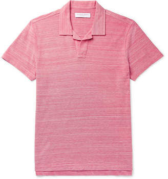 Orlebar Brown Felix Mélange Cotton-Piqué Polo Shirt