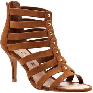 Sole Society Suede Caged Sandals - Anja