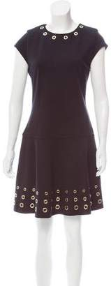 MICHAEL Michael Kors Grommet-Trimmed Mini Dress