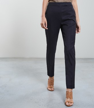 Reiss Tally Trouser - Slim Fit Tailored Trousers in Navy