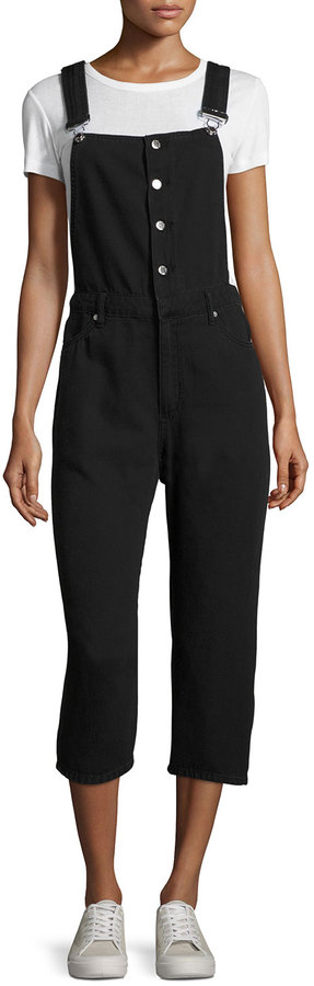 Cheap Monday Cheap Monday Later Denim Dungarees, Black