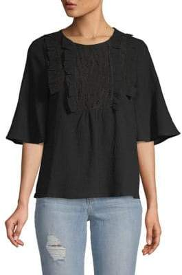 Moon River Ruffled Cotton Top