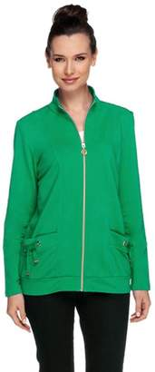 Susan Graver Weekend French Terry Zip Front Jacket with Pockets