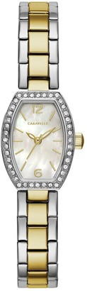Mother of Pearl Caravelle Women's Oval Mother-of-Pearl BraceletWatch
