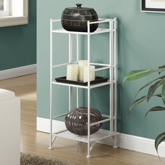 Convenience Concepts Designs2Go Metal Folding 3 Shelf Bookcase, Multiple Finishes