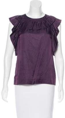 3.1 Phillip Lim Ruffle-Accented Sleeveless Top