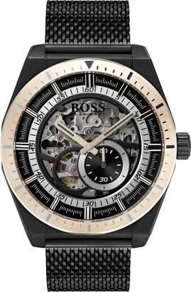 BOSS Signature Timepiece Collection Automatic Mesh Bracelet Watch, 44mm