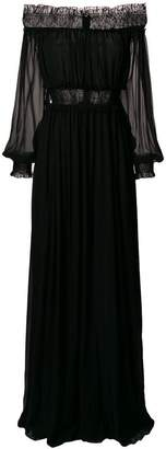 Giambattista Valli off shoulder ruched gown