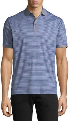 Robert Graham Men's Soto Knit Striped Polo Shirt