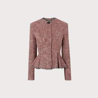 LK Bennett Cesilia Red Tweed Jacket