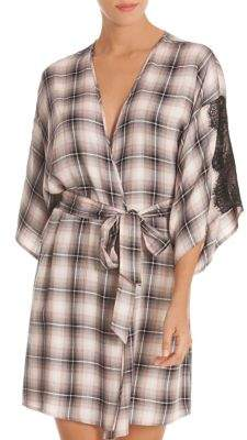 Midnight Bakery Cobain Lace-Trimmed Wrap Robe