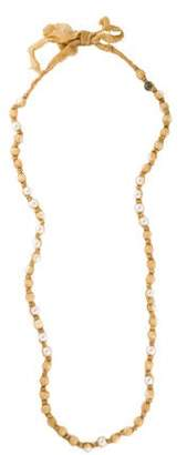 Lanvin Long Faux Pearl Knotted Necklace