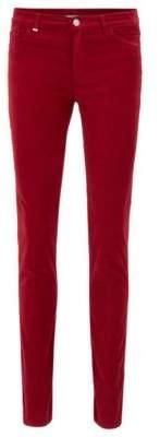 BOSS Hugo Slim-fit jeans in Italian stretch velvet 28/32 Dark Red