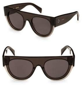 Celine Smoke Flat Top Round Sunglasses