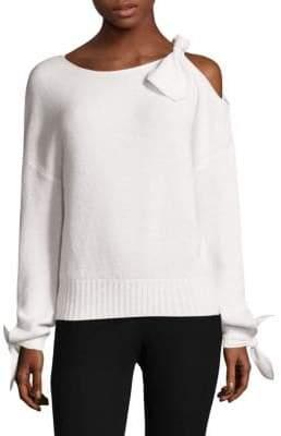 Derek Lam 10 Crosby Cold-Shoulder Cashmere Sweater
