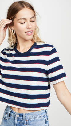James Perse Cropped Short Sleeve Tee