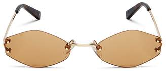 KENDALL + KYLIE Women's Kye Rimless Oval Sunglasses, 51mm