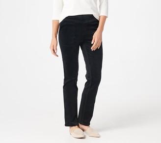 Denim & Co. Stretch Corduroy Smooth Waist Pull-On Pants