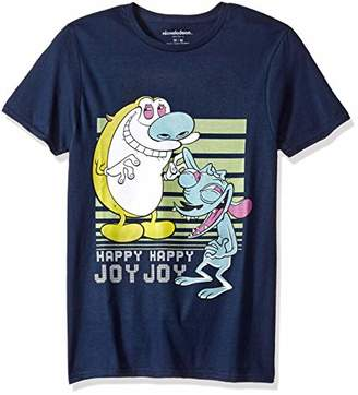 Nickelodeon Men's Ren & Stimpy Short Sleeve Graphic T-Shirt