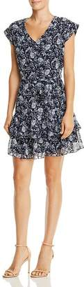 Aqua Ruffled Floral Paisley Print Dress - 100% Exclusive