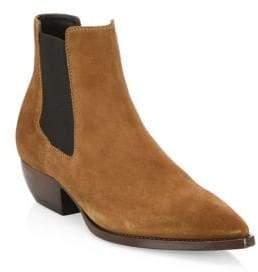 Saint Laurent The Cuban Suede Chelsea Boots