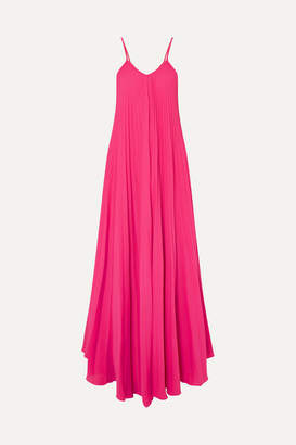 Adriana Degreas - Le Fleur Oversized Pleated Crepe Jumpsuit - Pink