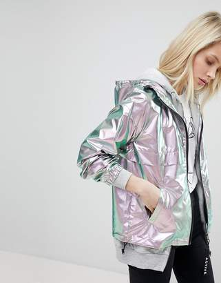 Only Metallic Festival Rain Jacket