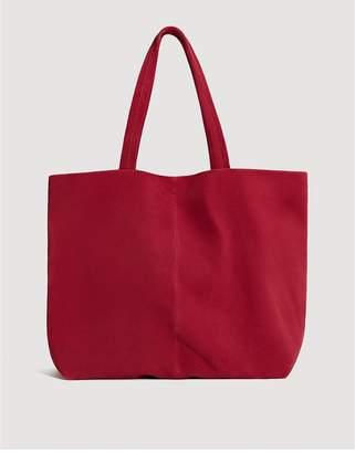 MANGO Sofia Suede Shopper Bag - Medium Pink