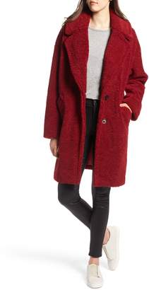 KENDALL + KYLIE Faux Fur Teddy Coat