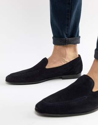 Kurt Geiger London Palermo loafers in navy suede
