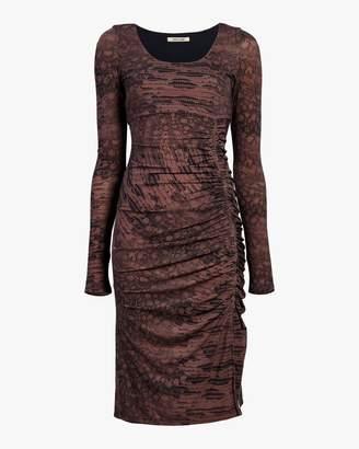 Roberto Cavalli Leopard Sheath Dress