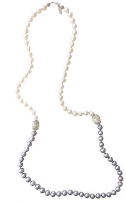 Farra - White & Gray Freshwater Pearls Multi-Way Necklace