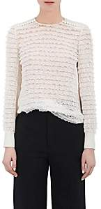 Chloé Women's Tiered-Lace Silk Blouse-White