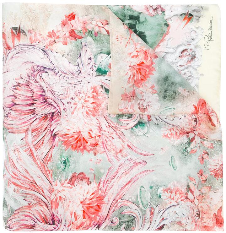 Roberto CavalliRoberto Cavalli printed silk scarf