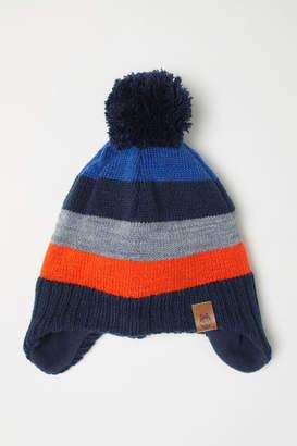 H&M Fleece-lined Hat with Earflaps - Orange