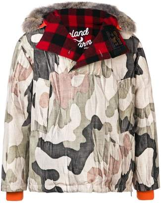 Woolrich x Griffin camouflage padded jacket