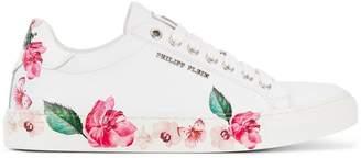 Philipp Plein Lo-Top Flowers Sneakers