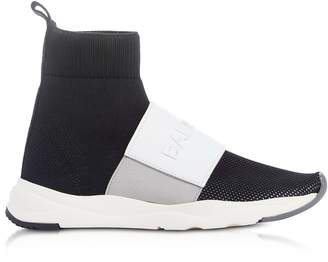 Balmain Black & White Nylon and Leather Cameron Running Women's Sneakers