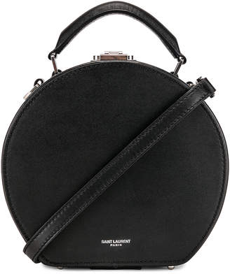 Saint Laurent Small Mica Hat Case in Black & Red & White | FWRD