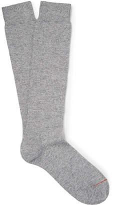 Loro Piana Mélange Stretch-Cashmere Over-The-Calf Socks