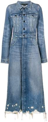 Alexander Wang denim trench coat