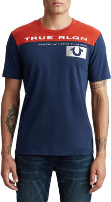 True Religion MENS CONTRAST FOOTBALL TEE