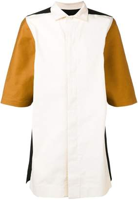 Rick Owens colour block shirt