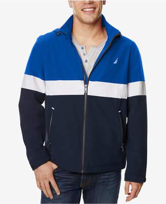 Nautica Men's Removable-Hood Colorblocked Full-Zip Jacket