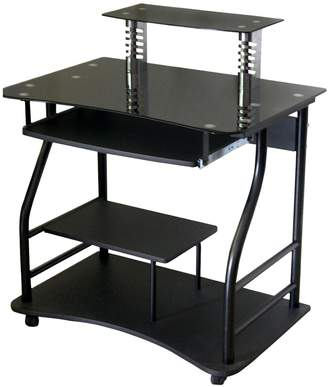 WheeledComputer Cart with Glass Table