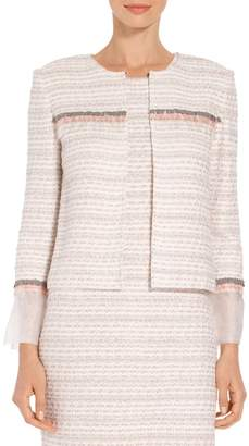 St. John Textural Striped Knit Jacket