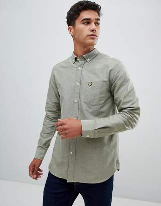 Lyle & Scott buttondown shirt in pale green
