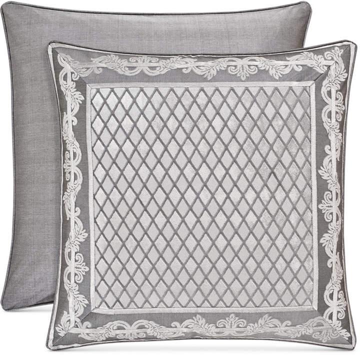 Bel Air Tufted-Chenille Silver European Sham Bedding