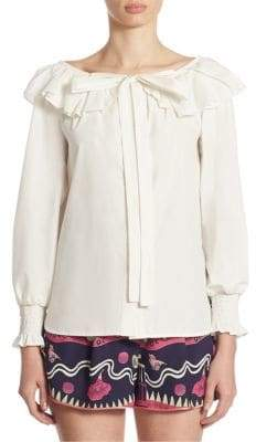 Marc Jacobs Marc Jacobs Ruffle Button Front Blouse