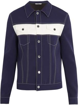 Valentino Contrast-panel stretch-woven jacket